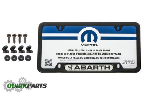 2013-2017 FIAT 500 ABARTH SATIN BLACK LICENSE PLATE FRAME HOLDER OEM MOPAR NEW