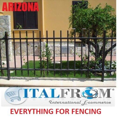 Valla de hierro forjado (Arizona) panel de la cerca estándar jardín