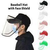 Gorra de béisbol anti-saliva Máscara protectora suave de cara completa