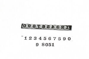 Serial Number Ink Stamp Strip 50//60/'s Vintage Gibson® style Font size 5mm
