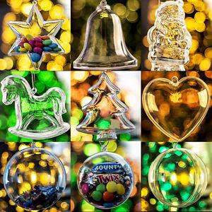 Christmas-Xmas-Decoration-Ornament-Tree-Transparent-Clear-Plastic-Bauble