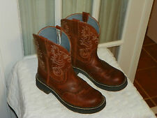 Ariat Women's Fatbaby Saddle Cowboy Western Boots Russet Rebel 10000860 Size 10