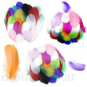 A-faire-soi-meme-100-Pcs-lot-colore-en-plumes-d-039-oie-4-7-cm-1-2-in-Stage-props-Dream-Catcher