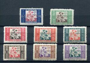 1934-ESPANA-BENEFICENCIA-EDIFIL-1-8-NUEVOS-SENZA-LINGUELLE-MNH-CAT-44