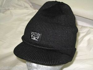 7fceb3511cd52 Image is loading BNWT-883-POLICE-Peaked-Beanie-Hat-Black