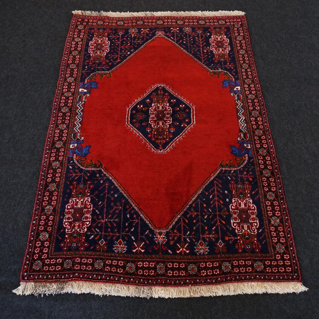 Orient nómadas alfombra de 154 x 107 cm rojo oscuro azul oscuro oriental Carpet Rug