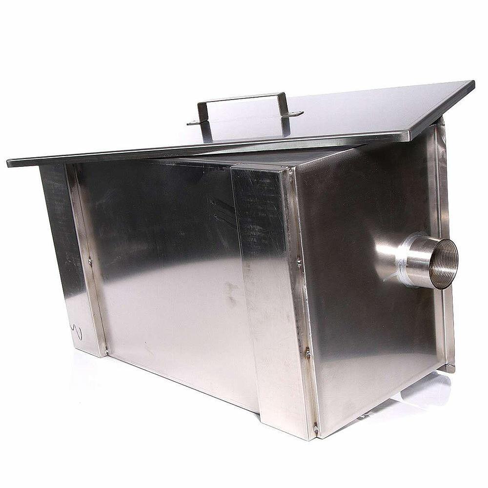 Fettabscheider 40L Edelstahl Ölabscheider Gastro Fettfilter Fettseparator ⭕