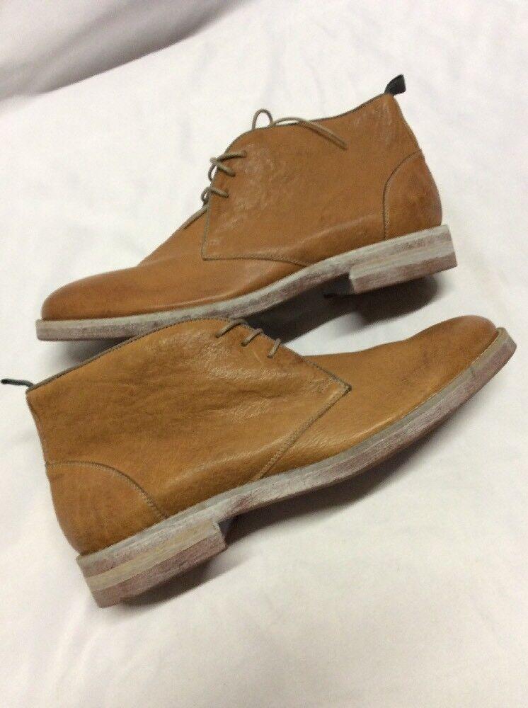 New Men's Johnston & Murphy watts leather Boots, Medium  Tan, Size 9, Eur 42 JM1