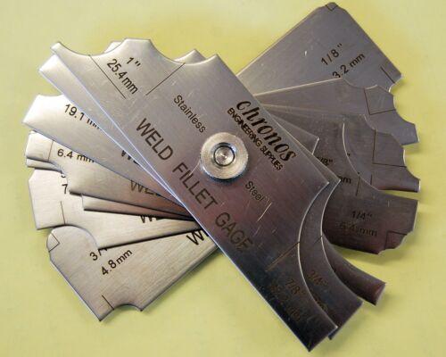 7 pièces Soudure Set Gauge Rl Gauge soudage inspection test ulnaire Métrique UK