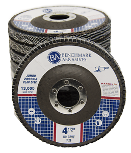 "5 Pack 4.5"" x 7//8/"" Jumbo 80 Grit Zirconia Flap Disc Grinding Wheels T29"