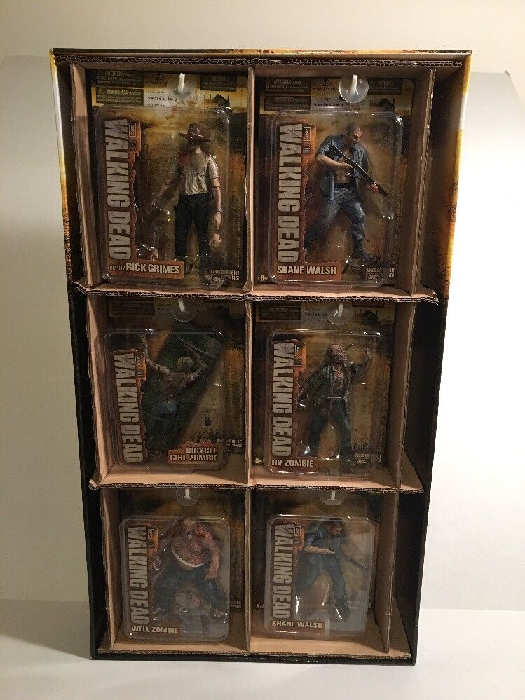 2012 AMC Walking Dead McFarlane  Series 2 2 2 Mint Action Figure Set & Store Display bfd41e