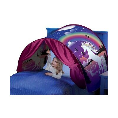 hot sales a61dc a9124 NEW Dream Tents Pop Up Kids Unicorn Fantasy Night Tent Magical Gift Single  Bed! | eBay