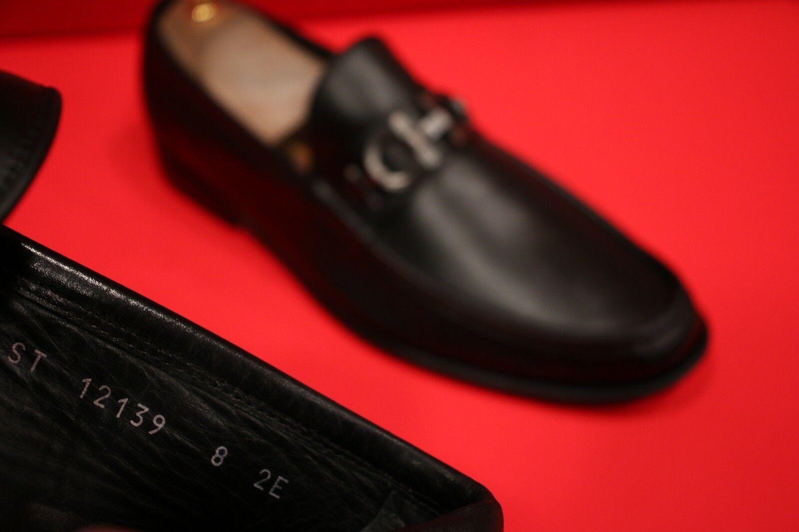 outlet online economico  729.00    FERRAGAMO FERRAGAMO FERRAGAMO nero  SUPERB BITS DRIVERS SLIP-ON LOAFER scarpe Dimensione 8 EE  consegna veloce