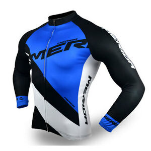 8b057b6d5 Merida Reflective Cycling Jersey Top Men s Long Sleeve Cycle Jersey ...