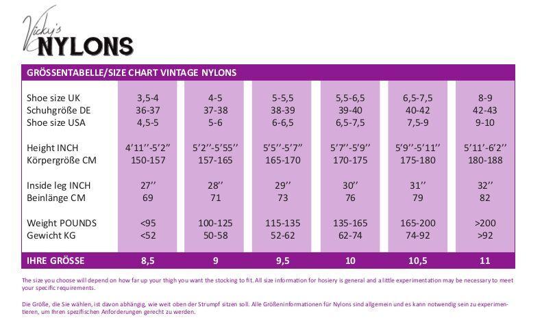 Véritable Nahtnylons Retro Nylon Chaussettes Bas couture Cuban Talon T 1/2 8 1/2 T à 11 00d5e1