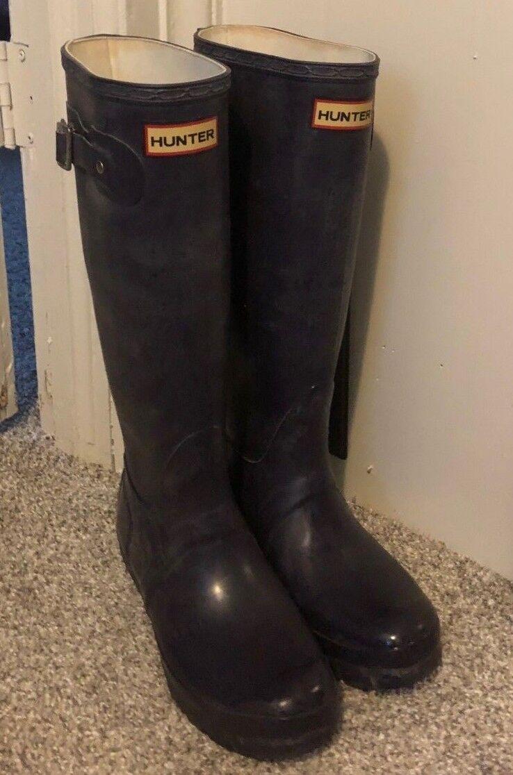 Hunter Boots Tall Women's Dark Purple UK4 US M5 F6  EU37