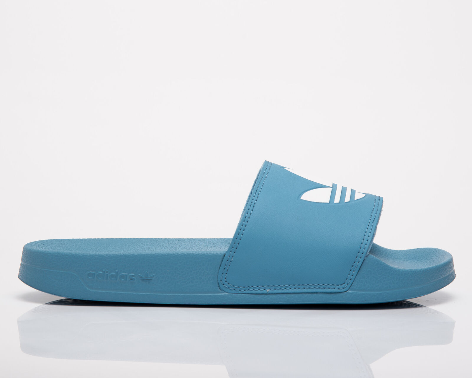 Adidas Originals Adilette Lite Femmes Brumeux Bleu Blanc Vie Glissières Sport