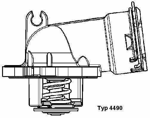 BorgWarner (Wahler) (4490.87D) Thermostat, Kühlmittel für MERCEDES