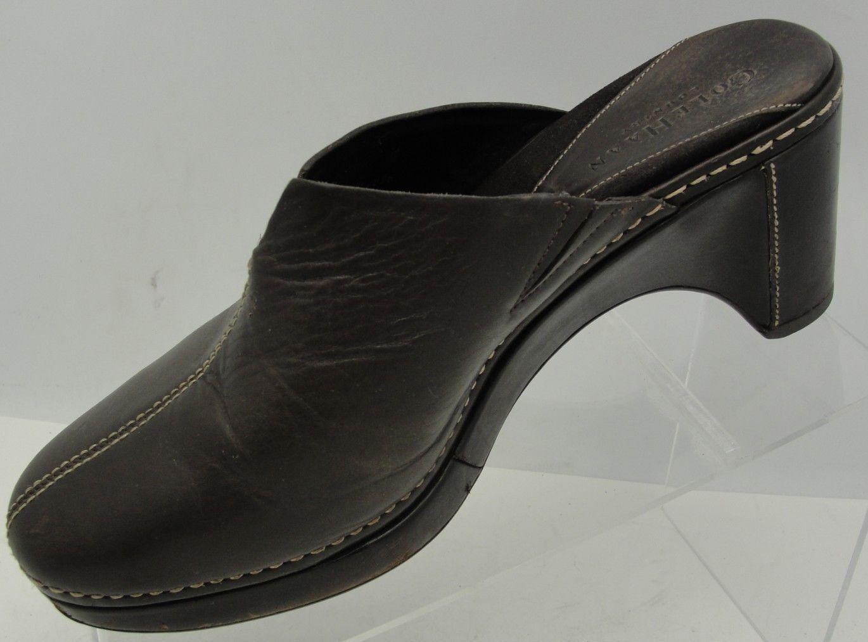 Clark's Clark's Clark's Damenschuhe Authentic Braun Leder Slip On Slide Clogs Mules Slides Schuhes 9M fc9d81