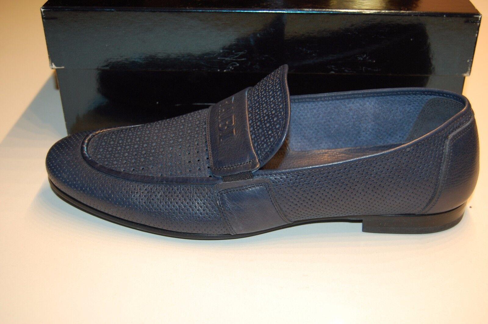 Fabi Fabi Fabi Men's Navy Dark bluee Loafers Casual Dress Logo  shoes Sz US 12 EU 45 b0bd8d
