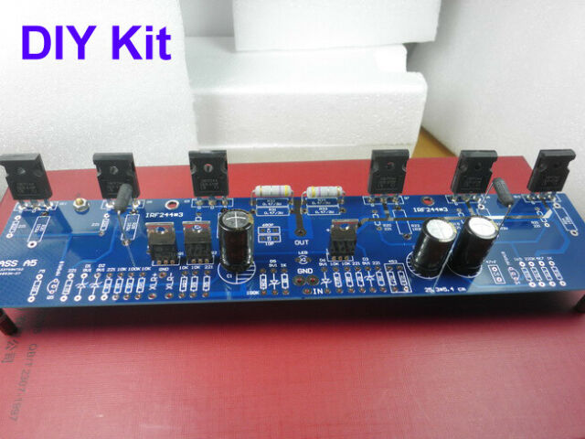 HIFI PASS A5 Single-ended Class A Power Amplifier kit 60W+60W Amp ( 2  channel )