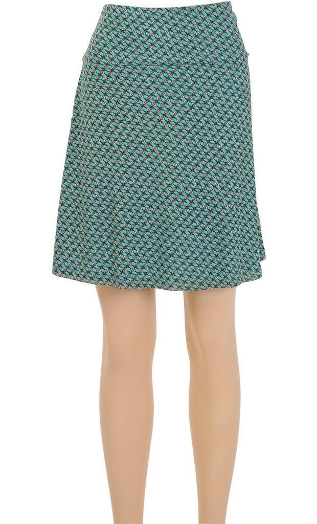 King Louie Retro Gonna blue green Boarder-Skirt Diamante bluee Tint 6105637
