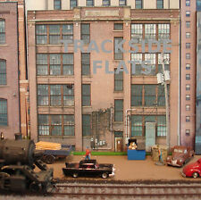 #140 HO scale background building flat PORTAGE POLYMERS SIDE   *FREE SHIPPING*