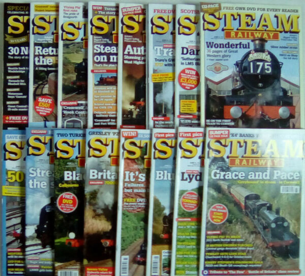 2019 Ultimo Disegno Steam Railway Magazine Number 365 - 383 July 2009 - December 2010 Select Issues
