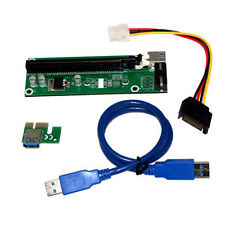 Extender USB3.0 1x to 16x Riser Card Adapter PCI-E Express SATA Power Cable Hot