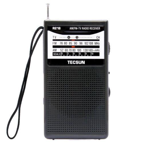 TECSUN R218 FM AM 2 Band Portable Radio High sensitivity Receiver w Speaker
