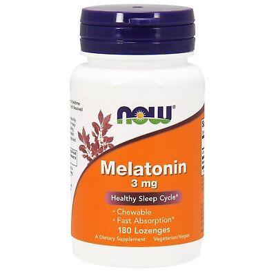 NOW® Melatonin, 3 mg, 180 Lozenges