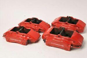 Genuine-Porsche-986-Boxster-S-3-2-Red-Brembo-Brake-Calipers-Set-Front-Rear