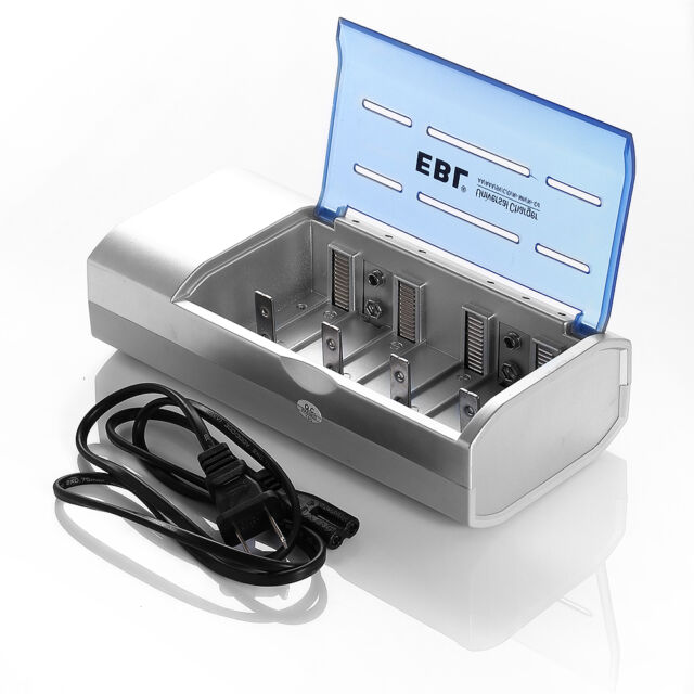 EBL Battery Charger For AA AAA 9V Ni-MH Ni-CD C D Size Rechargeable Batteries US