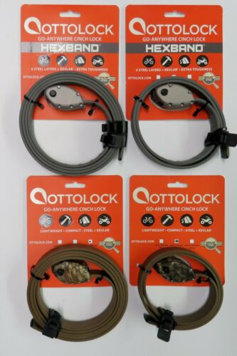 Steel Hexband Ti Grey or Cinch Camo 30 or 60 Combination Otto Lock With Kevlar