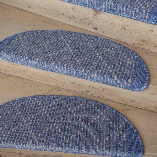 Treppenmatte Stufenmatte TIM KRETA blau Form Größe wählbar Metallwinkel !