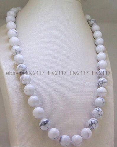 Fashion Necklaces & Pendants Charm Fashion 10mm Turkey Howlite ...