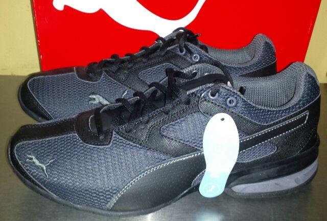 5d10931e531535 PUMA Tazon 6 Mesh Shoes Sz 9.5 Mens Sneaker Black Gray Athletic Shoe   NEW