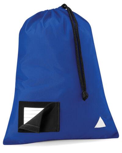 Quadra unior Shoesac Drawstring Pe Kit Travel Sport Name Holder Hi Vis