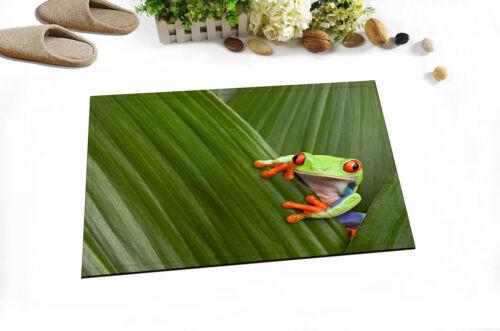 "71/"" Red-eyed Tree Frog on Leaf Shower Curtain Liner Waterproof Bath Mat Hooks"