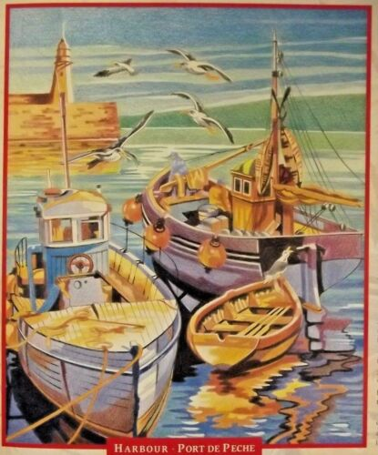 Reeves Pencil Colouring by Numbers Country Life//Mythical//Harbour//Dolphins