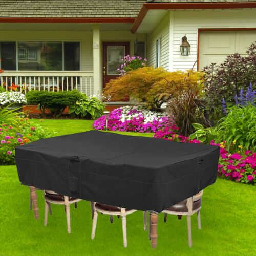 """128x82x23/"""" Large Durable Water Resistant Outdoor Furniture Cover Chair Black US"""