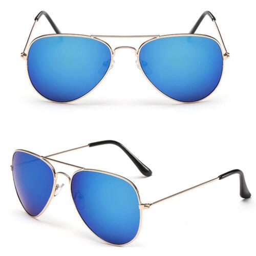 Herren Damen Mode Piloten Übergroße Sonnenbrillen Verspiegelte Linse Sportlich