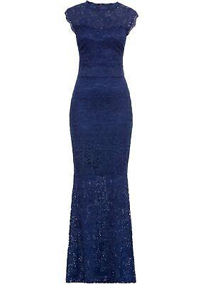 Spitzenkleid Gr. 48/50 Nachtblau Damen Maxi-Kleid ...