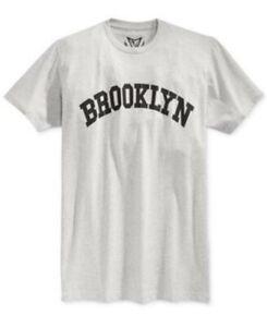 596b9791 Univibe Men's Gray XL Brooklyn Graphic print T shirt Grey Stripe ...