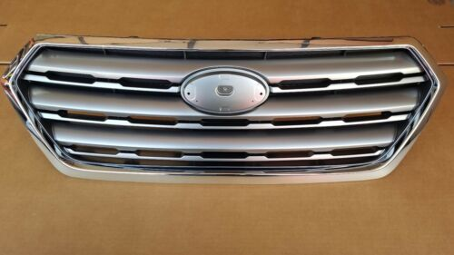 fits 2015-2017 SUBARU OUTBACK Front Bumper Grille Silver /& Chrome Upper NEW