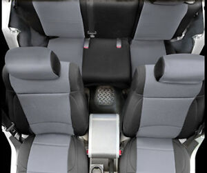 Awesome Details About 2007 2012 Jeep Wrangler 2 Door Neoprene Front Rear Seat Covers Black Gray Gamerscity Chair Design For Home Gamerscityorg