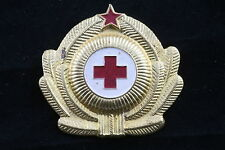 Bulgarian Bulgaria Army Medic Hat Badge Beret Red Cross Officer BNA Doctor