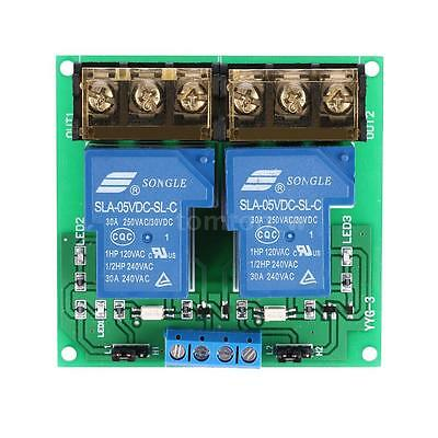 DC 5V/12V/24V 30A Optocoupler Isolation Relay Board Module High/Low Trigger T4L7