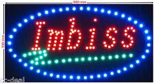"""LED Schild XL """"IMBISS"""" Werbeschild Leuchtreklame Werbung Neon Hinweisschild"""