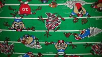 Custom - Taz Tazmanian Devil Looney Toons Football Field White Hand Towel Set 2